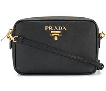 PRADA Black Saffiano Leather Shoulder Bag
