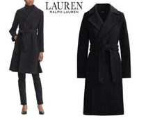 Ralph Lauren Wool Plain Medium Elegant Style Wrap Coats