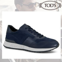 TOD'S Suede Blended Fabrics Street Style Plain Sneakers