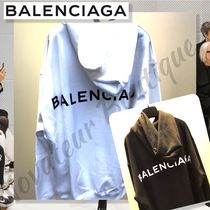 BALENCIAGA Pullovers Street Style Long Sleeves Cotton Oversized Hoodies