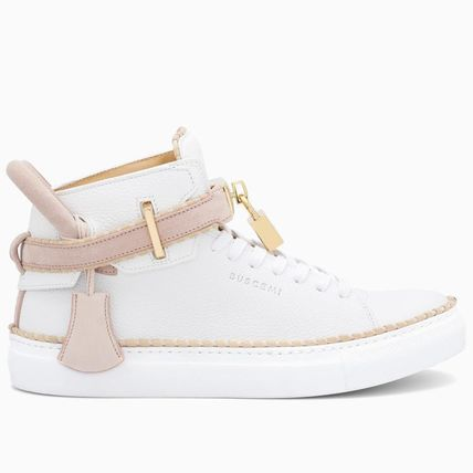 BUSCEMI Low-Top Plain Toe Rubber Sole Casual Style Street Style Plain 2