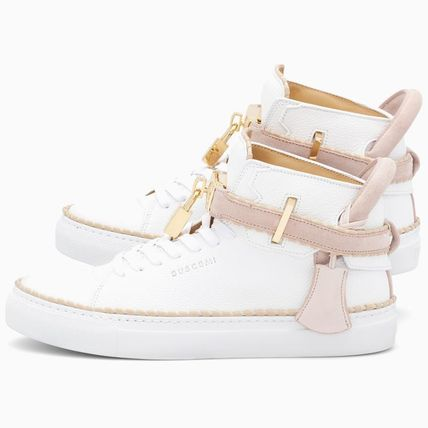 BUSCEMI Low-Top Plain Toe Rubber Sole Casual Style Street Style Plain 3