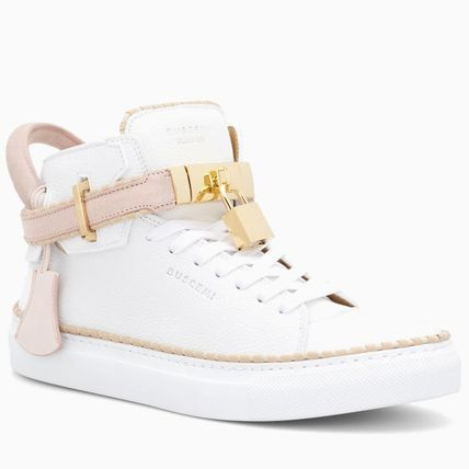 BUSCEMI Low-Top Plain Toe Rubber Sole Casual Style Street Style Plain 4