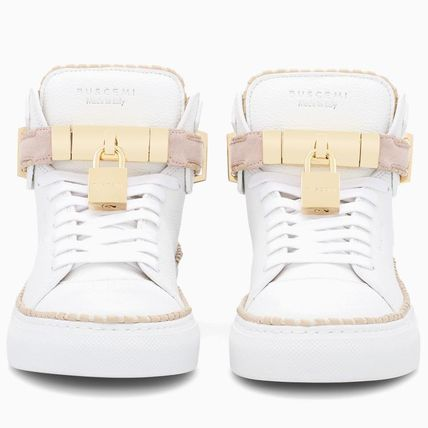 BUSCEMI Low-Top Plain Toe Rubber Sole Casual Style Street Style Plain 5