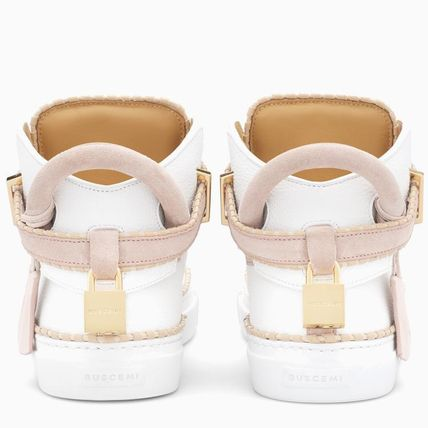 BUSCEMI Low-Top Plain Toe Rubber Sole Casual Style Street Style Plain 6