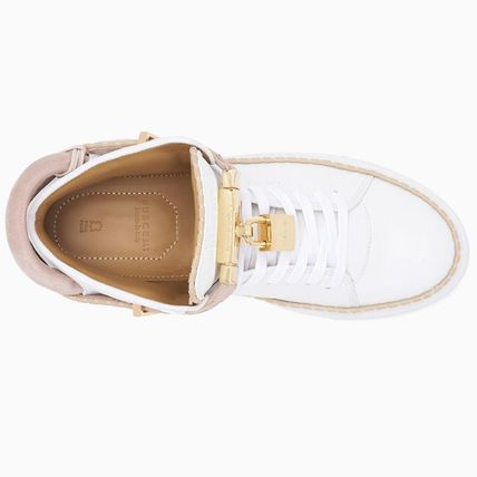 BUSCEMI Low-Top Plain Toe Rubber Sole Casual Style Street Style Plain 7