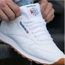 Reebok CLASSIC LEATHER Unisex Street Style Plain Leather Sneakers