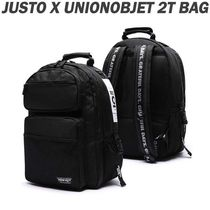 JUSTO Unisex Nylon Studded Backpacks