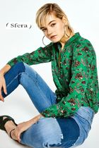 Sfera Flower Patterns Casual Style Puff Sleeves Shirts & Blouses