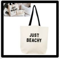 Casual Style Unisex Canvas A4 Plain With Jewels Totes
