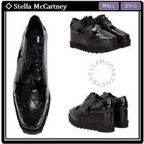 Stella McCartney ELYSE Star Square Toe Lace-up Casual Style Faux Fur