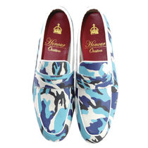 Camouflage Plain Toe Loafers Leather Loafers & Slip-ons