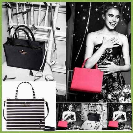 Stripes 2WAY Plain Handbags