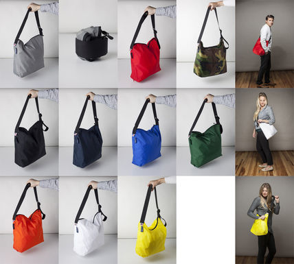 Casual Style Unisex Nylon 2WAY Plain Shoulder Bags