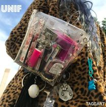 UNIF Clothing Casual Style Unisex Street Style Plain Crystal Clear Bags