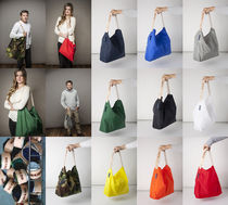 JULY NINE Casual Style Nylon 2WAY Plain Totes