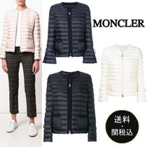 MONCLER Short Plain Elegant Style Down Jackets