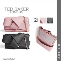 TED BAKER 2WAY Chain Plain Leather Party Style Clutches
