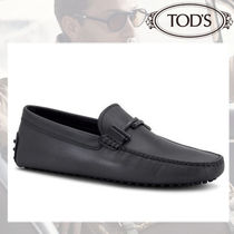 TOD'S Moccasin Blended Fabrics Plain Leather U Tips