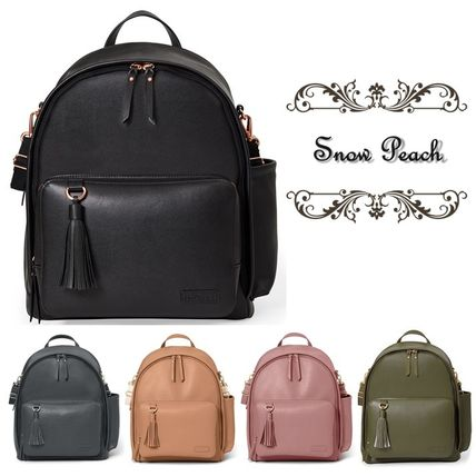 Casual Style Faux Fur Plain Backpacks