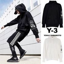 Y-3 Pullovers Street Style Long Sleeves Plain Cotton Oversized