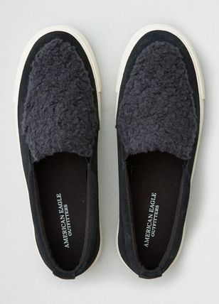 Round Toe Rubber Sole Casual Style Unisex Street Style Plain