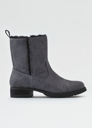 Cowboy Boots Round Toe Casual Style Unisex Street Style