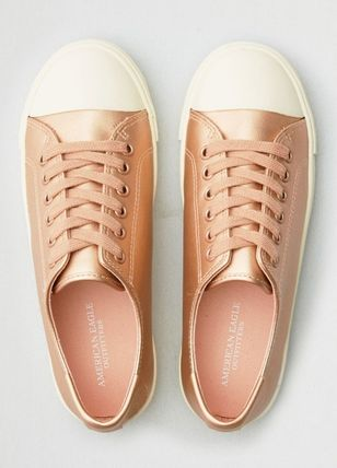 Round Toe Rubber Sole Casual Style Unisex Street Style