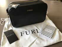 FURLA Casual Style 2WAY Plain Leather Party Style Elegant Style