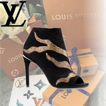 Louis Vuitton Leather Pin Heels Elegant Style Ankle & Booties Boots