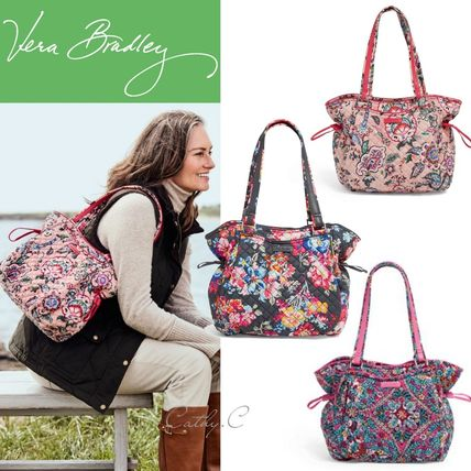 Flower Patterns Casual Style Street Style Totes