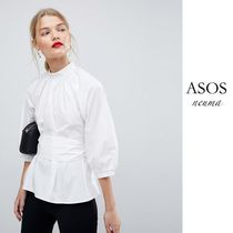 ASOS Casual Style Cropped Plain Cotton Shirts & Blouses