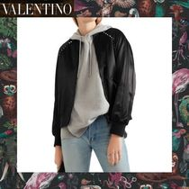 VALENTINO Studded Plain Medium Varsity Jackets