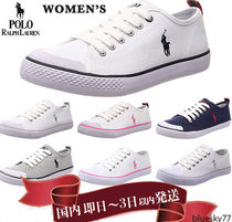 POLO RALPH LAUREN Casual Style Unisex Low-Top Sneakers