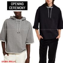 OPENING CEREMONY Unisex Street Style Cropped Plain Cotton Hoodies