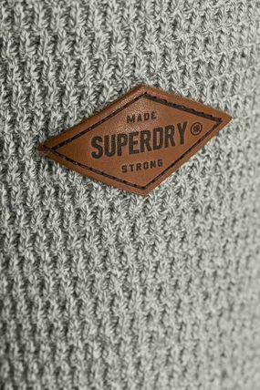 Superdry Knits & Sweaters Crew Neck Pullovers Street Style Long Sleeves Plain Cotton 5