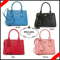 PRADA GALLERIA 2WAY Leather Party Style Shoulder Bags