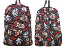 Disney Flower Patterns Casual Style Street Style Backpacks