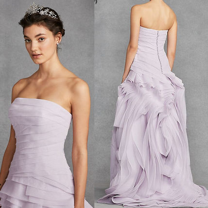 Shop Vera Wang 2018 Ss Plain Long Wedding Dresses By Nht Inc Buyma