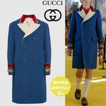 GUCCI Wool Bi-color Long Chester Coats