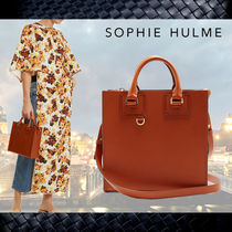 SOPHIE HULME 2WAY Plain Leather Totes