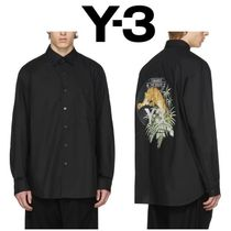 Y-3 Long Sleeves Plain Other Animal Patterns Cotton Shirts