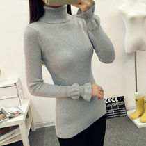 Long Sleeves Plain Medium Turtlenecks