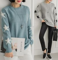 Star Long Sleeves Sweaters