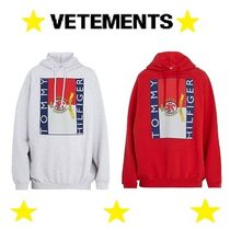 VETEMENTS Pullovers Blended Fabrics Street Style Collaboration