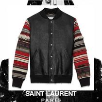 Saint Laurent Street Style Leather Medium Souvenir Jackets