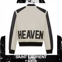 Saint Laurent Wool Street Style Plain Medium Varsity Jackets