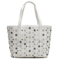 Jimmy Choo Star Casual Style Studded Leather Totes