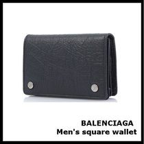 BALENCIAGA Street Style Leather Card Holders