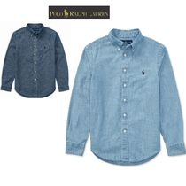 Ralph Lauren Button-down Street Style Long Sleeves Plain Cotton Shirts